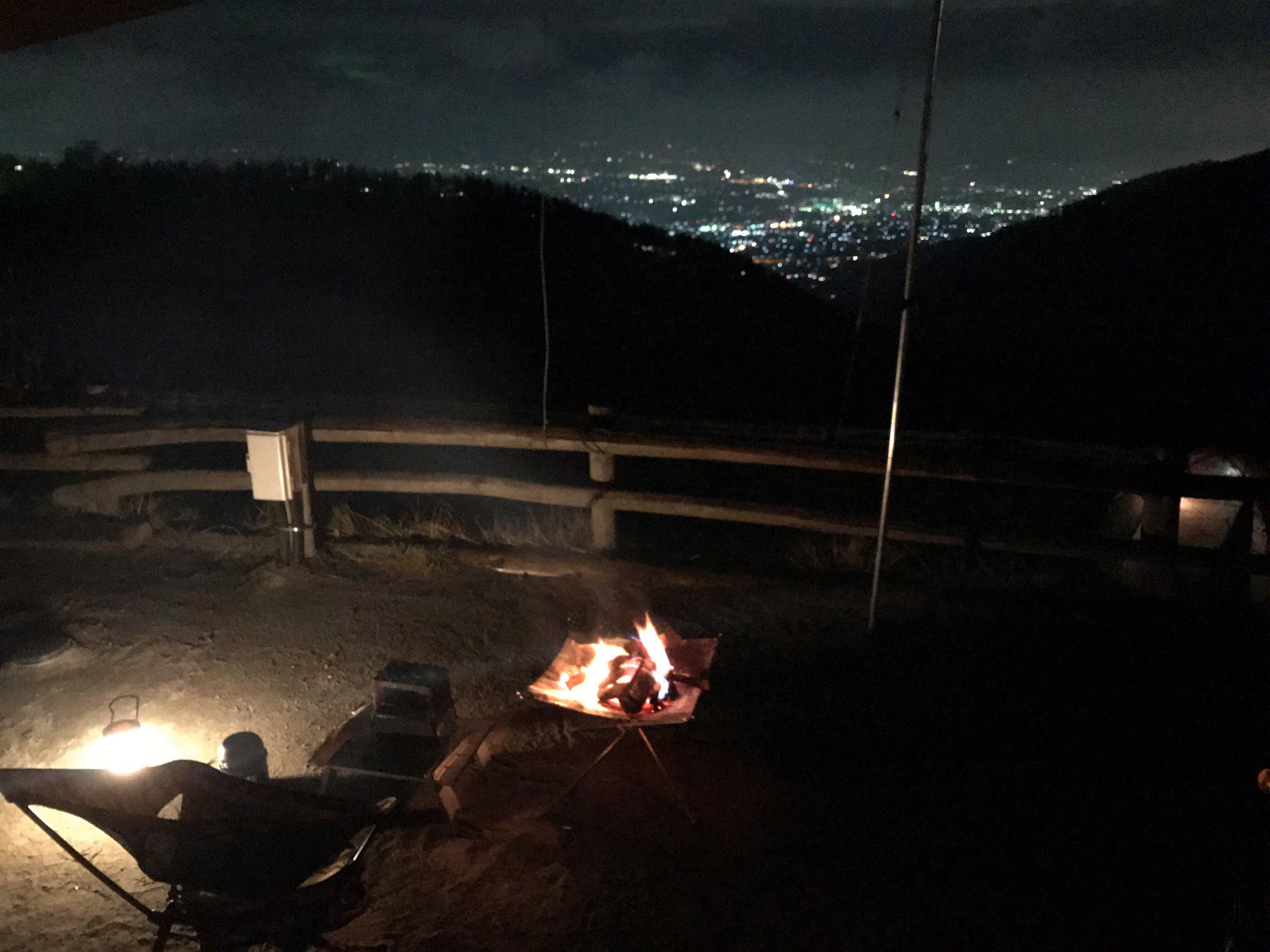 ほったらかしキャンプ場夜景